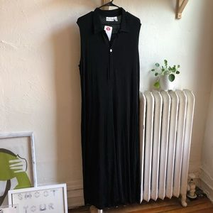 Vintage Black Slinky Maxi Dress
